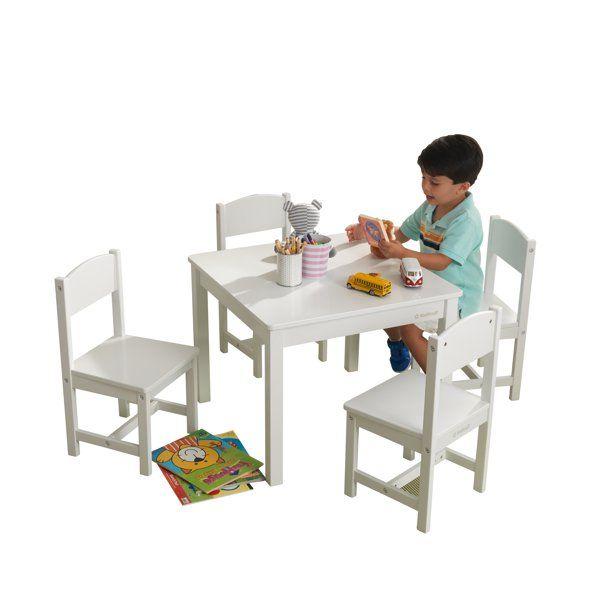 Kidkraft Kidkraft Wooden Farmhouse Table 4 Chairs Set Children S Furniture For Arts And Activity White Walmart Com Sitzgruppe Kinder Mobel Lounge Garnitur Kidkraft table and chairs white