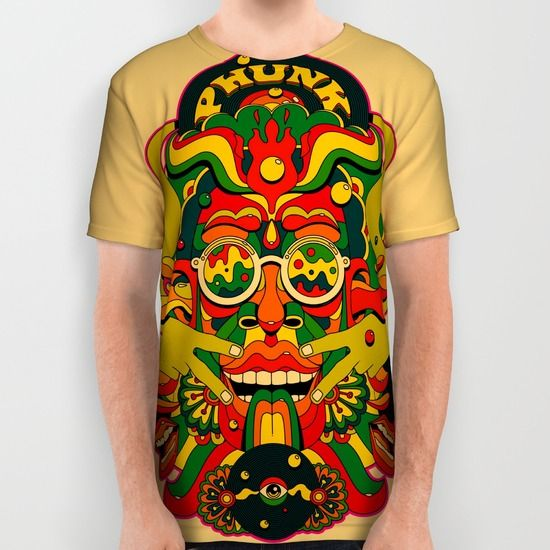Phunk Monster all over print shirt by Roberlan on Society6