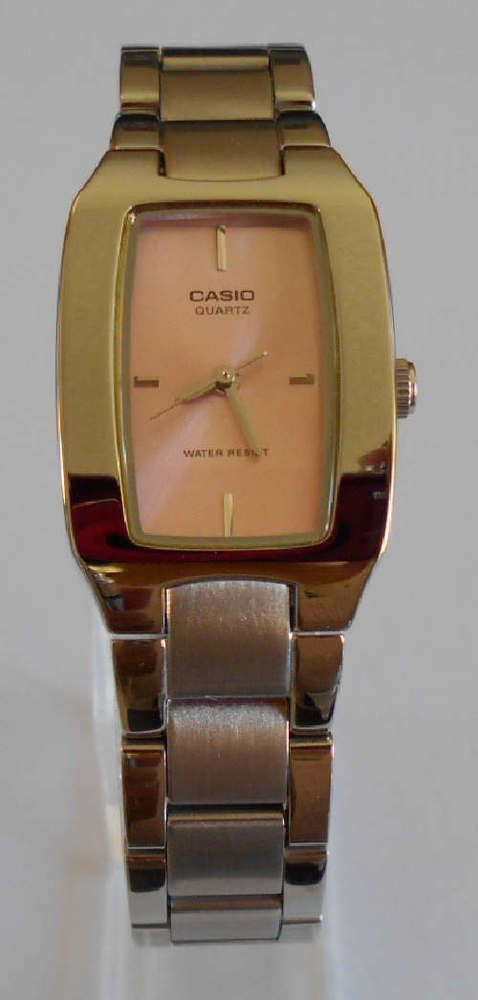 Casio Analog watch Women LTP 1165 Tank Pink Dial Stainless Steel Water Resist #Casio #Dress