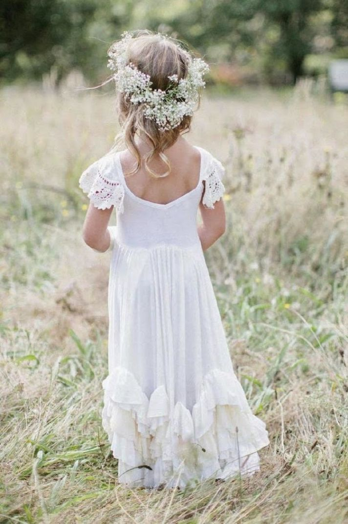 Super Sweet Flower Girl with a Flower Crown