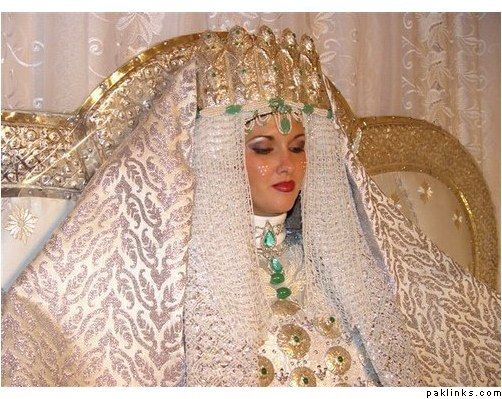 One Of The Many Dresses A Moroccan Bride Will Wear On Her Wedding Night