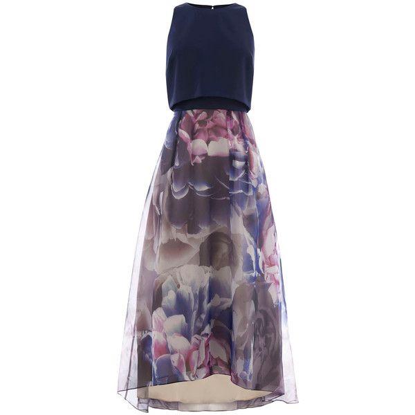 DENVER HI LOW DRESS (2.050 VEF) ❤ liked on Polyvore featuring dresses, flared skater skirt, pleated circle skirt, hi low dress, purple hi low dress and pleated dress