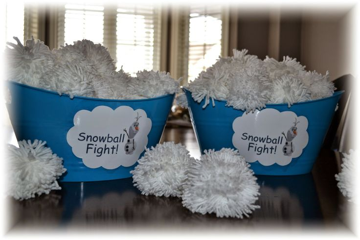 Cake Momma: Frozen Party, snowball fight