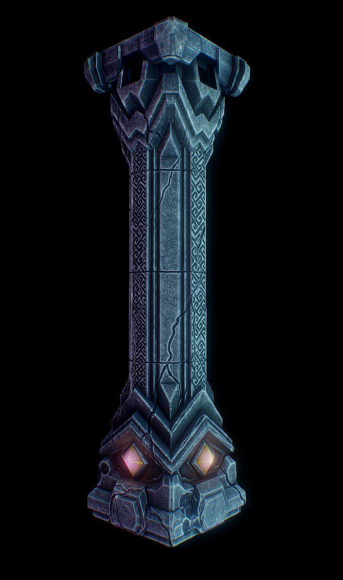 Dwarf Pillar, Alexander Antonov on ArtStation at https://www.artstation.com/artwork/dwarf-pillar