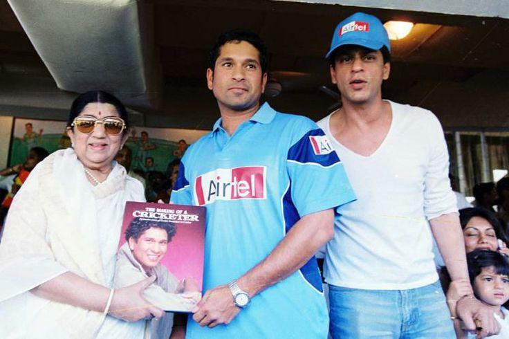 With Lataji & SRK