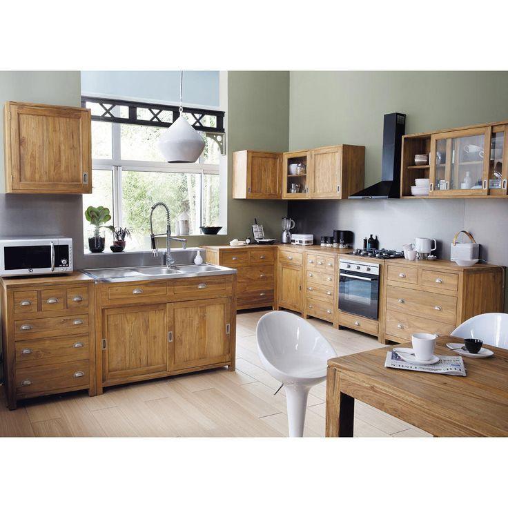 Meuble de cuisine independant awesome affordable meuble cuisine noir pas cher element cuisine - Meuble cuisine independant bois ...