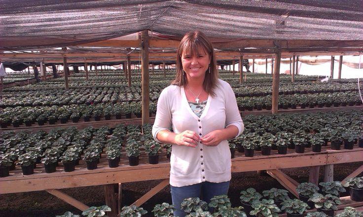 Annemarie Kamp, proud grower in Chili