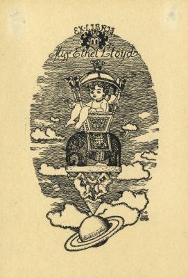 Bookplate by Kálmán Tichy for Ethel Lloyd, 1916