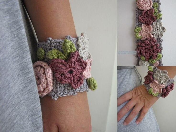Little Treasures: Bohemian crochet bracelet