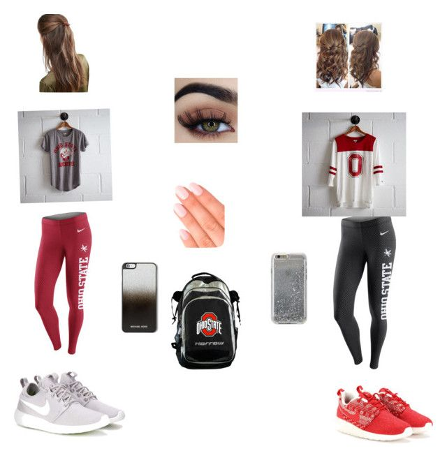 """""""OSU game day"""" by mwalton162 on Polyvore featuring NIKE, Tailgate, Agent 18, MICHAEL Michael Kors, DesignB London and Elegant Touch"""