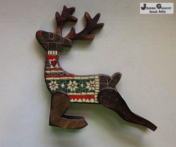 Mosaico scultura decorazione di Natale di JoGranadosMosaics