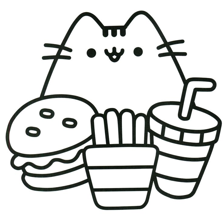 pusheen coloring book pusheen pusheen the cat - Coloring Pages
