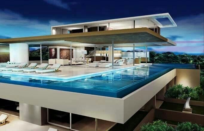 We love the idea of this crazy pool! Don't you?