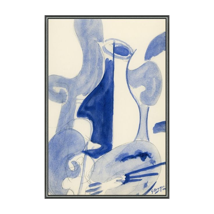 Shop Soicher Marin  Blue Wine Carafe Hand Embellished Framed Art at The Mine. Browse our framed art, all with free shipping and best price guaranteed.