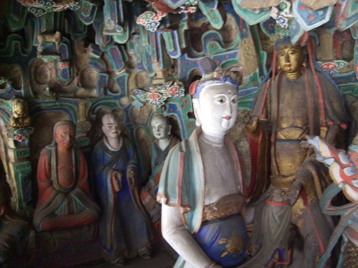 images in the hanging monastery in Datong