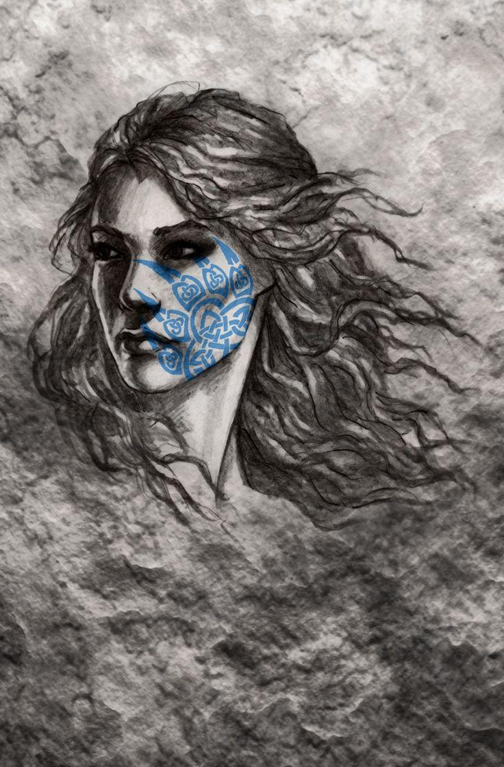 Owl greeting card set welsh artist jen delyth celtic art studio - Celtic Warrior Woman By Brina Williamson