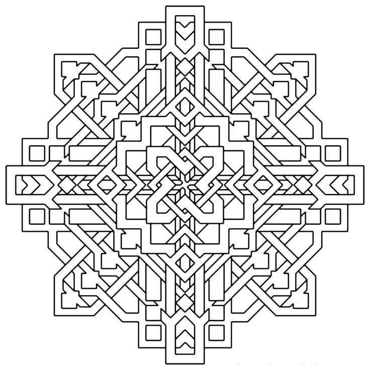 25 unique Geometric coloring pages ideas on Pinterest  Mandala