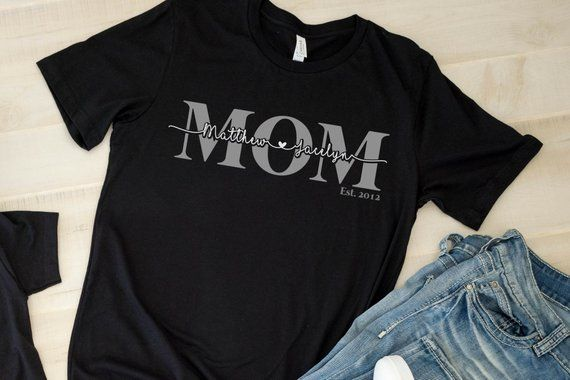 Personalised I Love You Vinyl T-Shirt  Personalise with Baby/'s Name  Black Glitter Vinyl