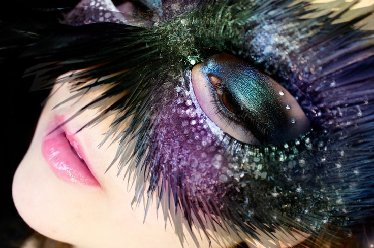 I want to go to a masquerade.   Look is by Klaire de Lys