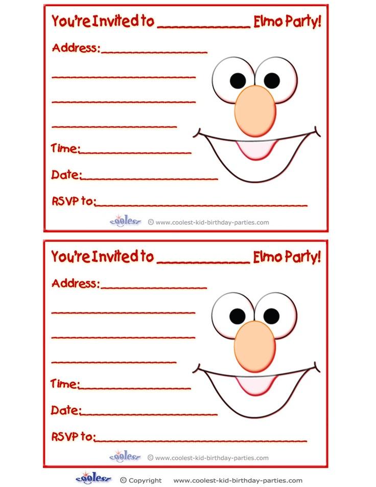 34 best Elmo BIRTHDAY images – Printable Elmo Birthday Invitations