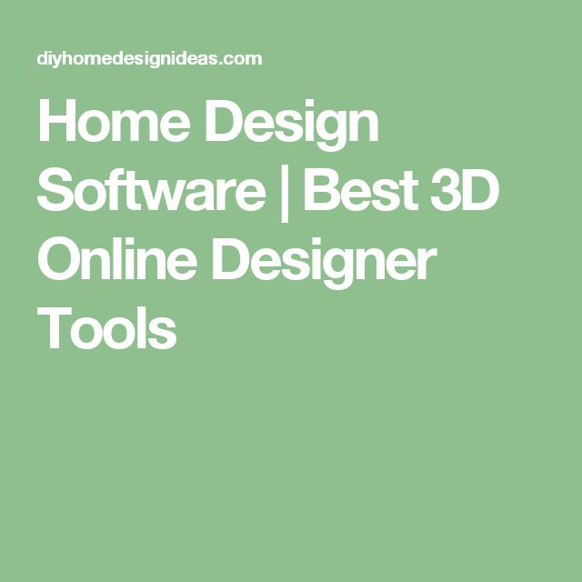 25 best ideas about home design software on pinterest Best 3d interior design software