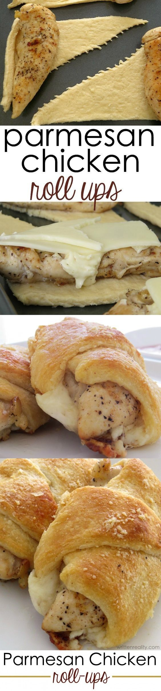 8 pieces Chicken tenderloins. 1 cup Marinara sauce. 1/2 cup Mayonnaise. 1 Salt and pepper. 1 can Crescent dinner rolls, refrigerated. 1/4 3 tablespoons of grated parmesan cheese. 3 tbsp Butter. 4 slices Deli-style mozzarella cheese.