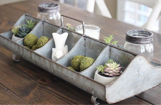 Galvanized Feeding Trough Caddy - Decor Steals - Farmhouse Style Home Office Accessories