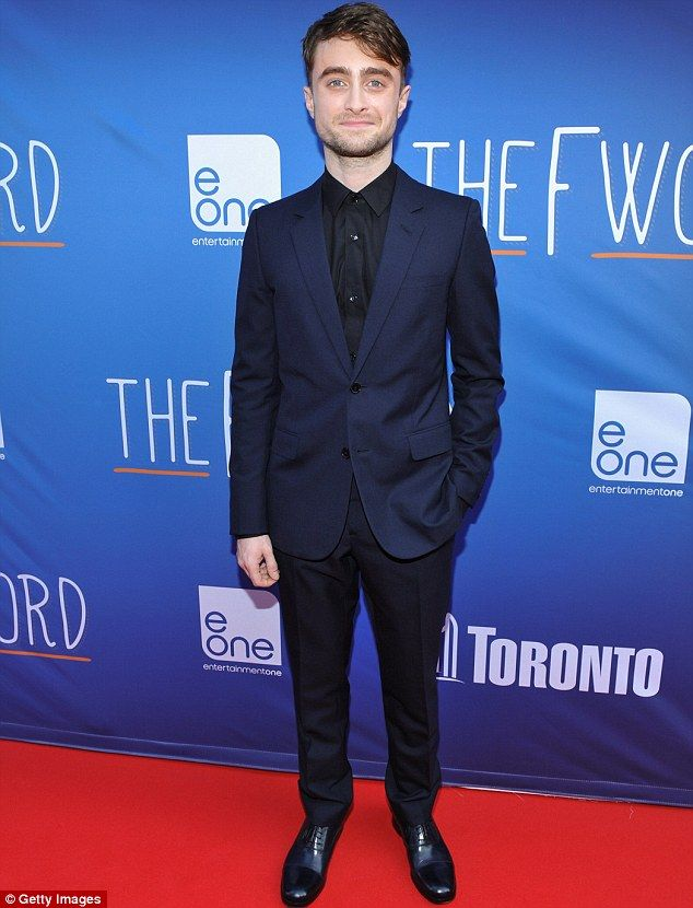 Daniel Radcliffe looked good in a navy blue suit at the What If