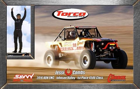 Jessi Combs with her Savvy Ultra4 OffRoad Vehicle