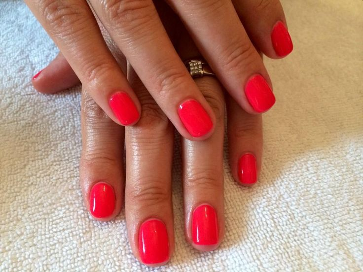 Gorgeous GELeration manicure created by Lucy Sharman using Strawberry Daquiri.