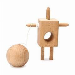 [ $37 OFF ] 100Pcs/lot Beech Wood Robot Style Wooden Ball Toys Kendama