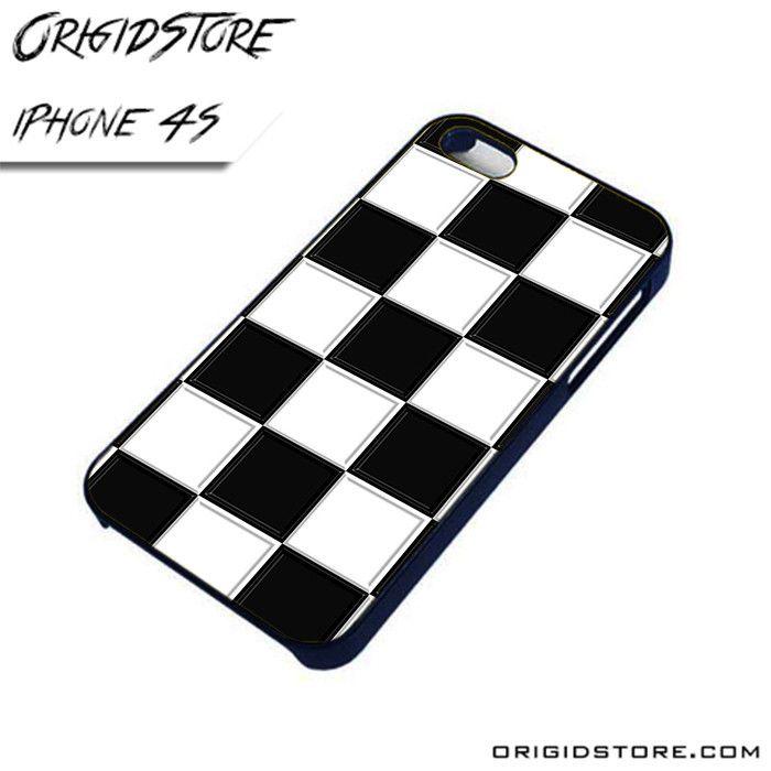 Black and White Line Start AL iPhone 4/4S case