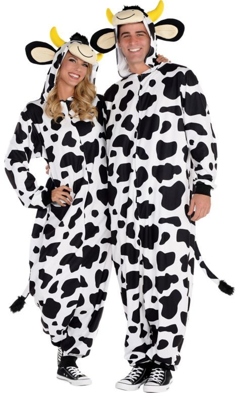 adult zipster cow one piece pajama costume party city - Halloween Costume Cow