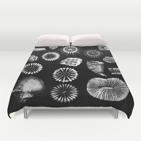 Fossil Corals Duvet Cover