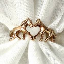 a horse ring with a heart center - A Wonderful Promise Ring - So unique.