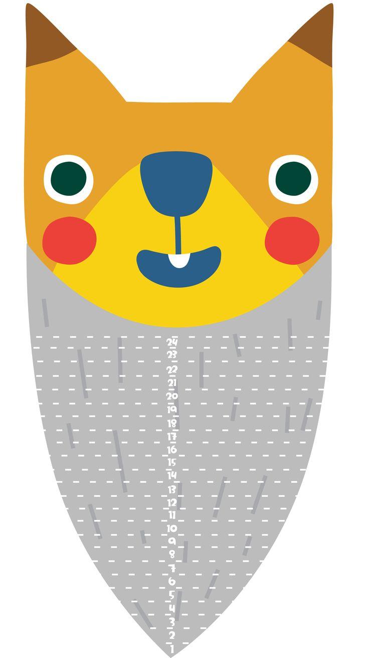 Oravan partakalenteri. Free printable patterns. lasten | askartelu | joulu | käsityöt | koti | tonttu | tontut | DIY ideas | kid crafts | christmas | home | elves | Pikku Kakkonen