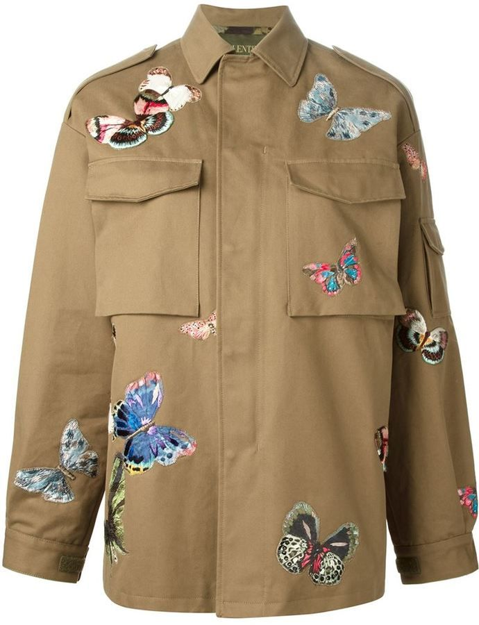 Valentino stitched butterfly jacket on shopstyle.com