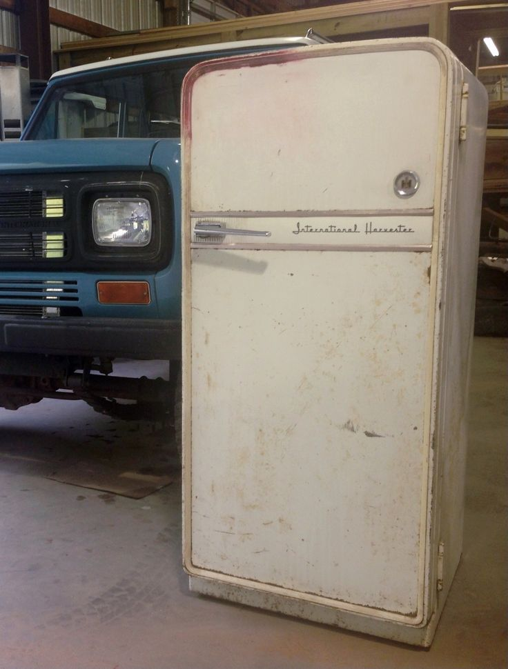 International Harvester Refrigerator : International harvester refridgerator ih obsession
