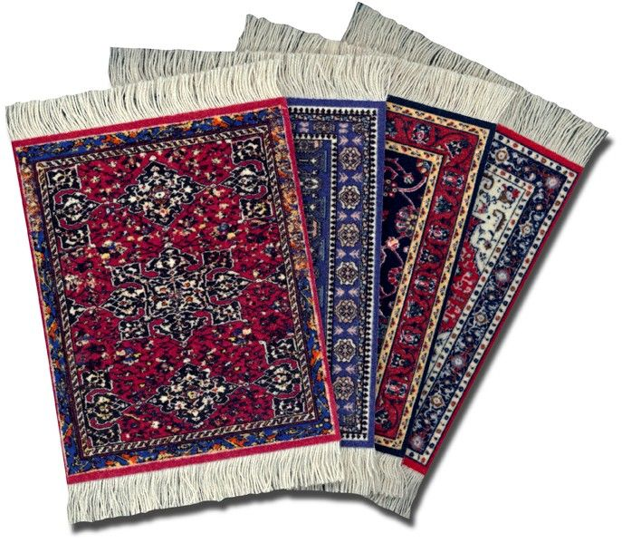 set of Kaji coaster rugs