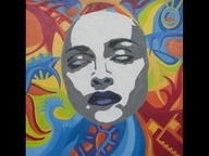 Projeto criado para a promoção que escolherá a capa do próximo single de Madonna entre obras de grafiteiros brasileiros. O trabalho é de autoria de Raphael Mattera.
