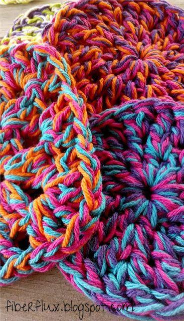 Fiber Flux...Adventures in Stitching: Free Crochet Pattern...Super Squishy Trivets!