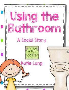 Social story using the bathroom bathroom a girl and for Using the bathroom social story