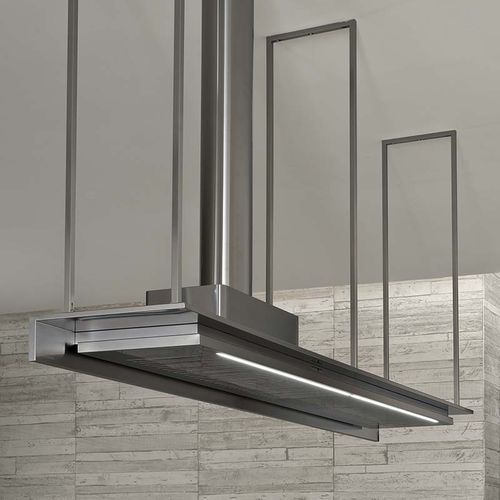 Island extractor hood with built in lighting icon - Cappe cucina sospese ...