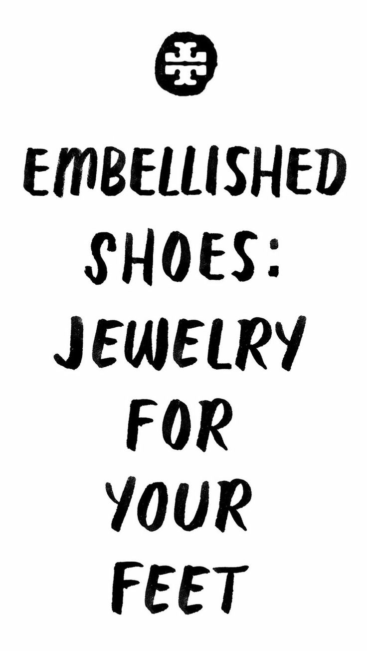 Embellished shoes: jewelry for your feet