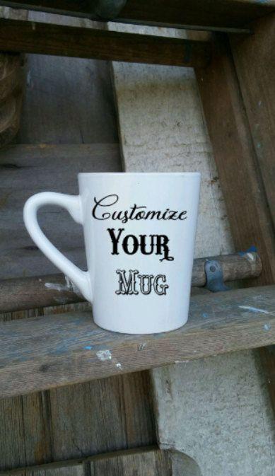 Custom coffee mug  personalized Coffee Cup  by threepaintedarrows