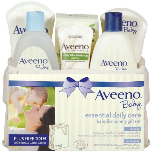 Aveeno Baby Gift Set, Daily Care Essentials Basket, Baby and Mommy Gift Set | Multi City Health  List Price: $29.99 Discount: $7.00 Sale Price: $22.99