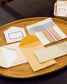Did you know that, in the early part of the 19th century, letters were not mailed in envelopes? Instead, they were folded and the addresses placed on the outside of the sheet. A homemade card certainly calls for an envelope that's equally as special. It's easy to create one that's customized to the size and shape of your card.