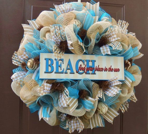 Do It Yourself Home Design: 16 Best Beach Themed Wreaths Images On Pinterest