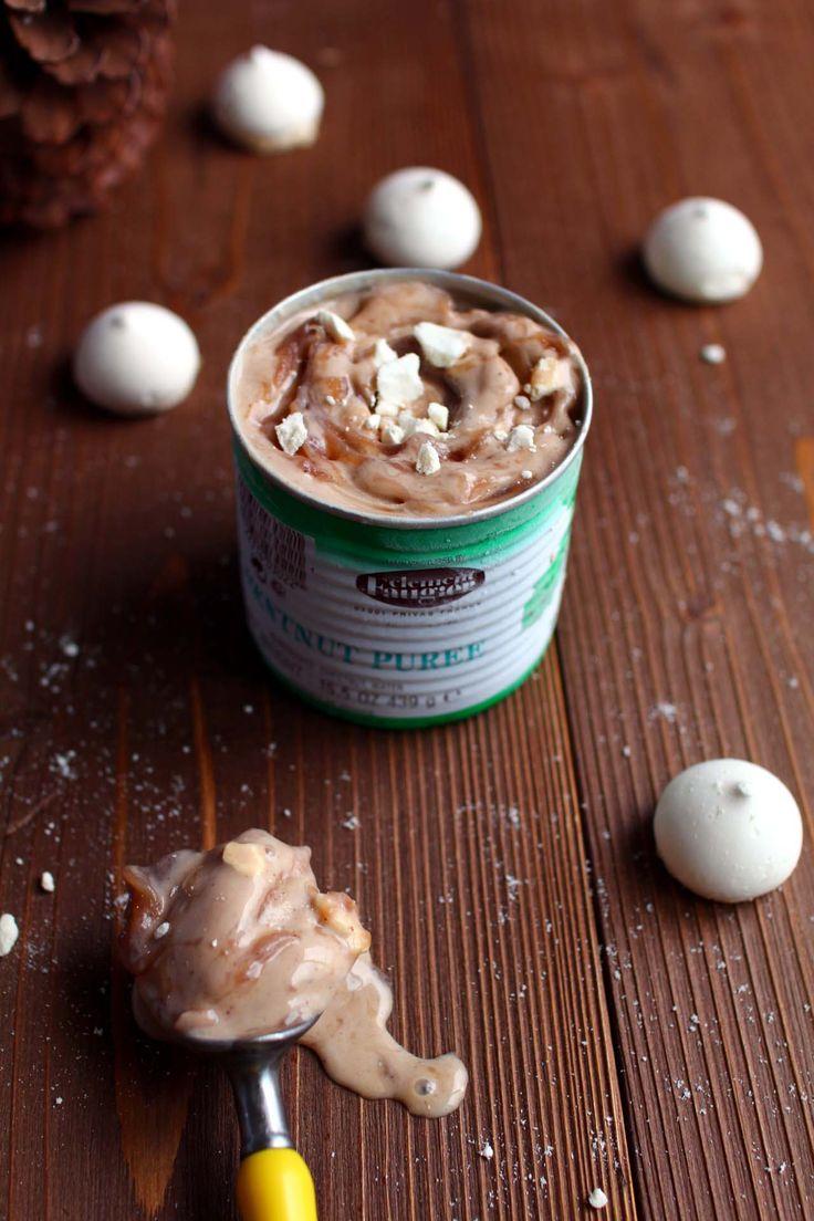 Glace marbrée aux marrons et à la meringue http://www.royalchill.com/2014/10/24/glace-marbree-aux-marrons-et-a-la-meringue/ #glace #marrons #cuisine
