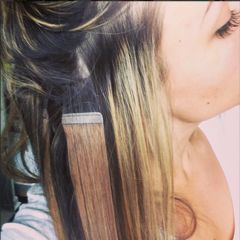 What are the best hair extensions for thin hair? Find out why tape in extensions are the best hair extensions for thin and short hair. You can have fuller hair.